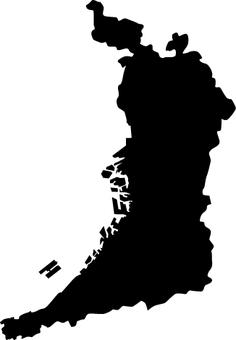 Osaka prefecture _ silhouette _ black