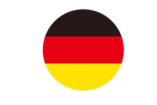 German flag round icon