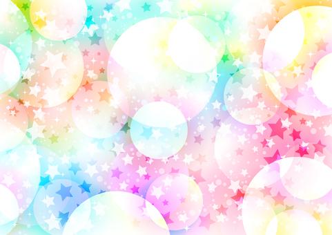 彩虹色蓬鬆星狀背景