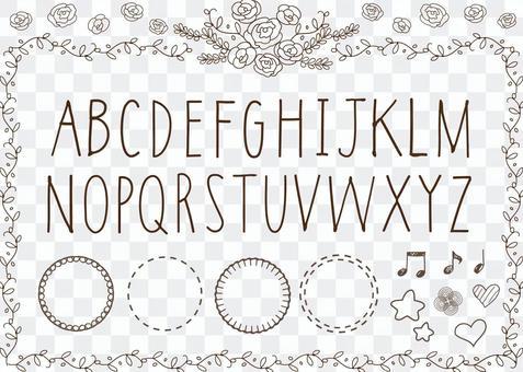 手寫的字體字母表羅馬字母表