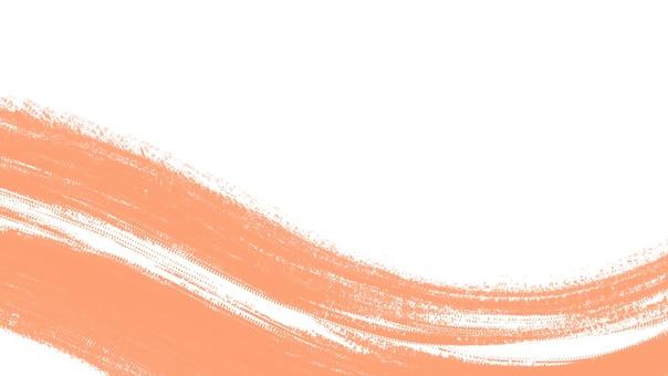 背景框架橙色波浪水彩