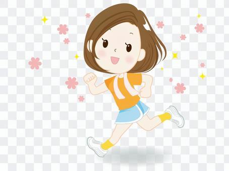 Jogging ② (individual young women)