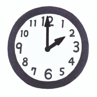Clock pointing to 2 o'clock