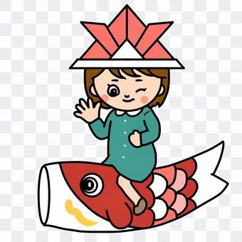 女孩2鯉魚飄帶B