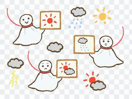 Teru teru bozu和天氣圖標
