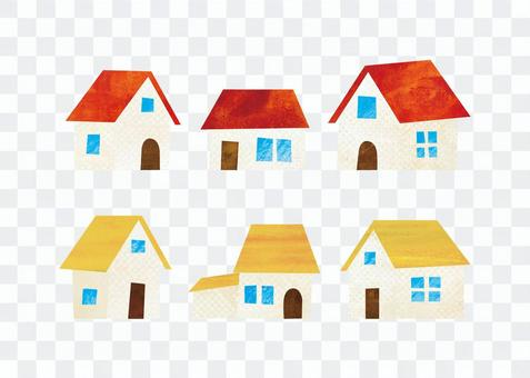 House with red roof / Yellow roof