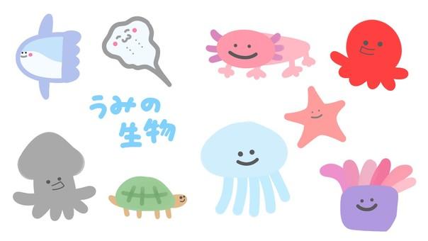 Sea creatures_set