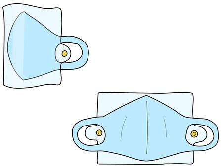 口罩和口罩情況藍色