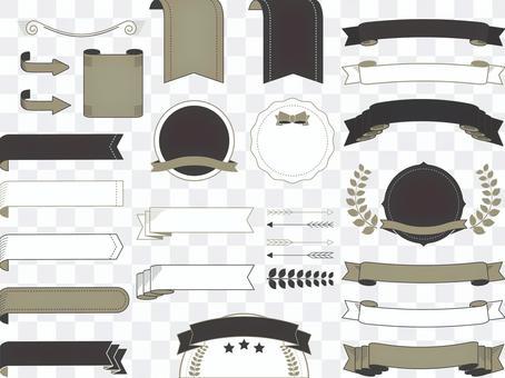 Material 153 (ribbon frame 01 gold black)
