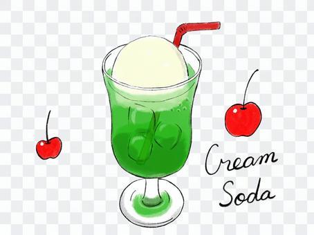With handwritten cream soda straw