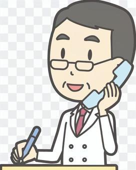 中年男性医師-316-バスト