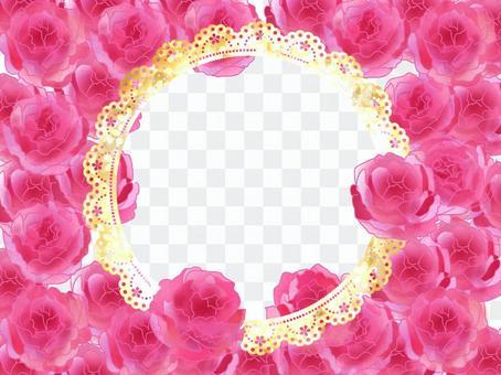 浪漫的玫瑰框架