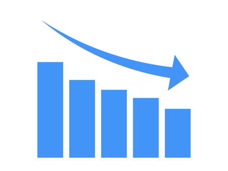 簡單降序圖形圖標:藍色