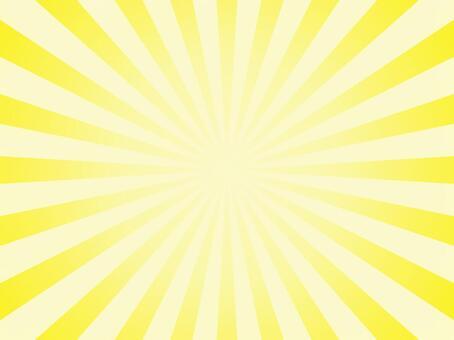 放射状 黄色