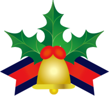Christmas bell and holly