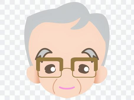 Glasses grandfather - smiling face 20181123