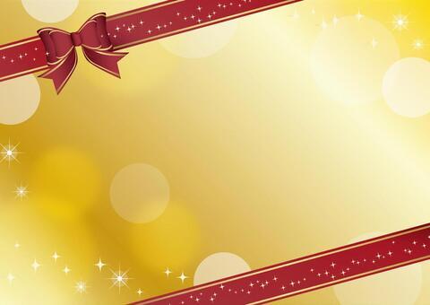Ribbon card gold