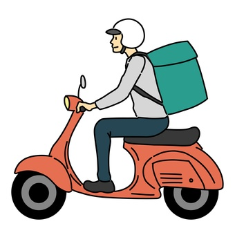 Food delivery man