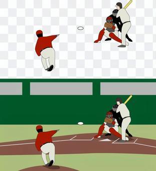 Baseball professional pitcher batter