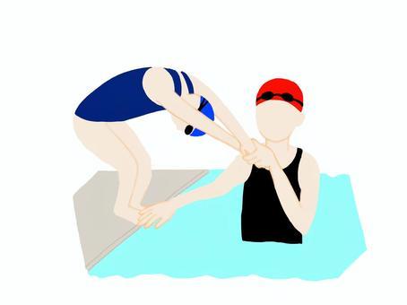 游泳潛水練習風光