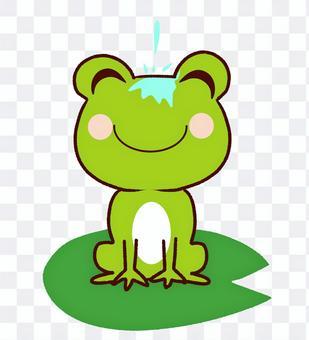 蛙の面に水