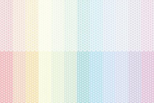 彩虹彩色的條紋的圖案點集