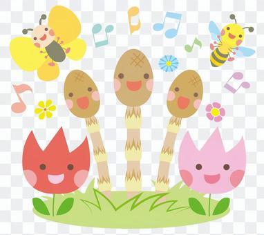 Tsukushi和春天伴侶合唱小隊