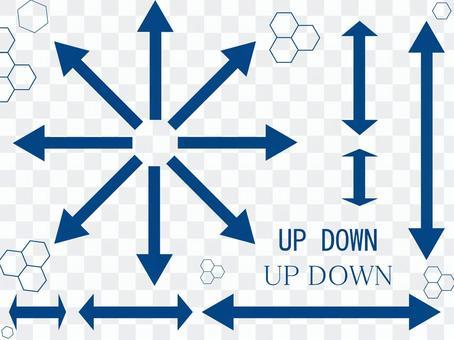 設計箭頭箭頭和雙向藍色