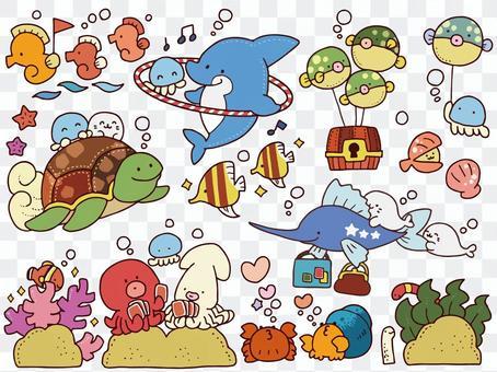 為兒童設置的海洋生物
