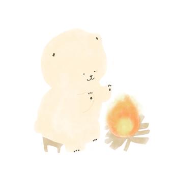 Bear warming up