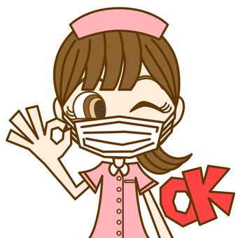 女人簽字 OK ② / 護士 / 面具