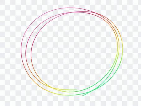 Maru Maru round circle frame decorative frame rainbow color icon