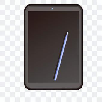 片劑個人計算機和筆例證