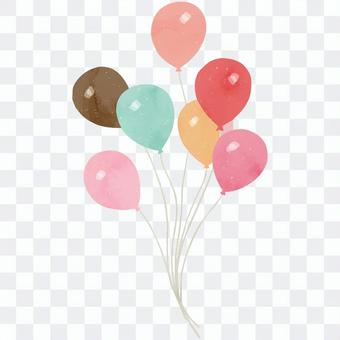可用於字母等的氣球插圖。5