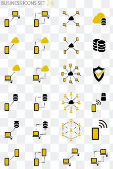 Business icon set [communication]