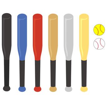 各種球棒和球