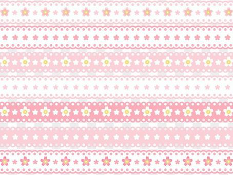 Cherry blossom pattern lace line