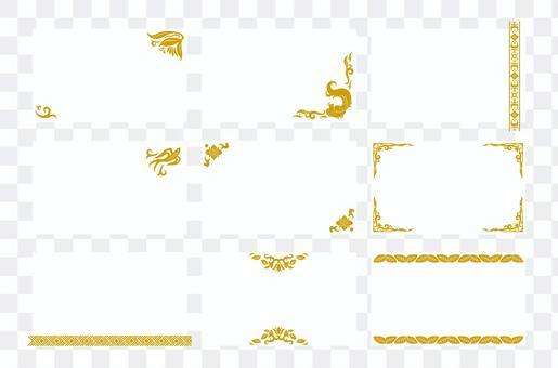 Asian design business card 02 (golden brown)