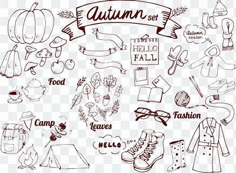 手繪ashirai設置在秋天