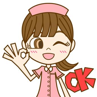 女人簽字 OK ② / 護士