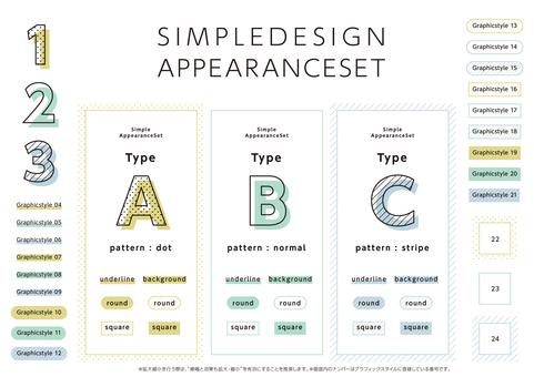 Simple appearance set