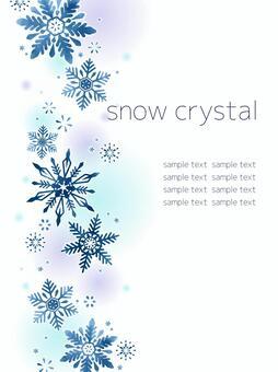 雪の結晶の背景(縦型)