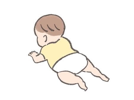 Baby doing his best