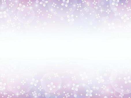 紫陽花の上下フレーム