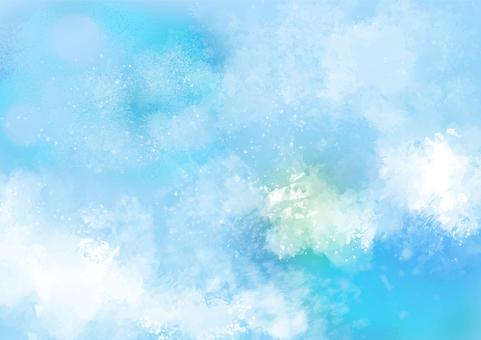 背景素材080手繪天空