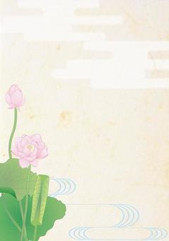 Lotus flower _ Hydrolic Japanese paper vertical plate
