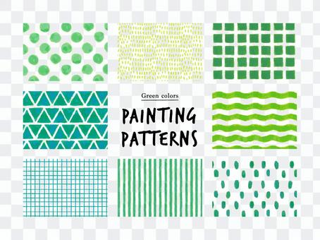 簡單的手繪圖案/綠色