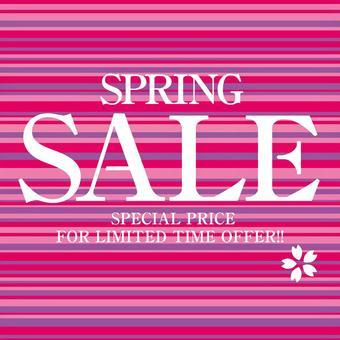 Spring SALE leaflet poster DM material