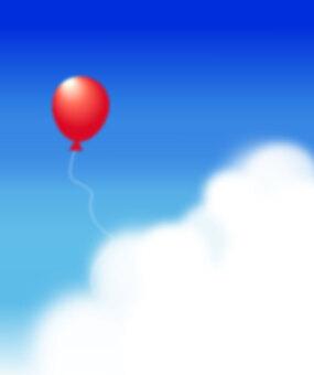 天空和氣球(垂直)