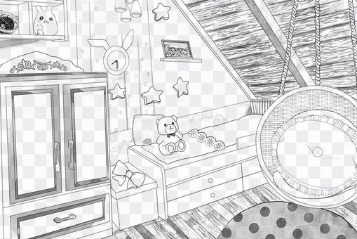 可愛的房間色調1